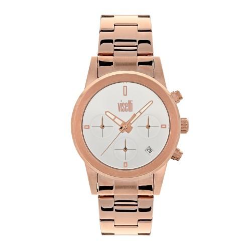 VISETTI Minimal Rose Gold Stainless Steel Bracelet ZE-996RW
